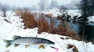Ловля щуки на малой реке зимой! Зимний спиннинг и рыбалка на щуку 2019