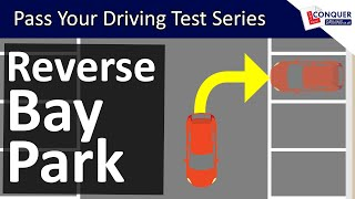 Reverse Bay Parking using the Mirrors for Reference Points - Driving Test Manoeuvre