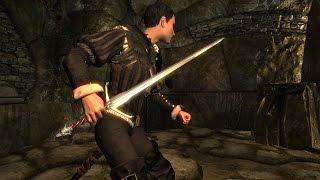 SKYRIM: (мод) - Серебряный меч Ведьмака / Witchers Silver Sword -