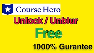 course hero free unlock 5 solution 100% works