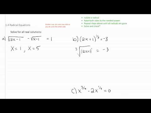 Solving Radical Equations p2
