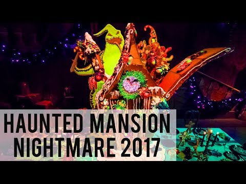 Haunted Mansion Nightmare Before Christmas 2017 - Full Ride POV