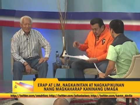 Erap-Lim TV debate turns ugly