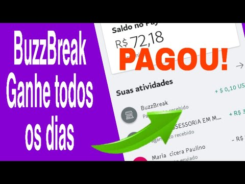 PAGOU $0,10! BuzzBreak Ganhe Dinheiro no Paypal Lendo Notícias \Money no Paypal/