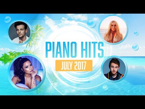 Piano Pop Songs July 2017 : Over 1 hour of Billboard chart hits  - music for studying