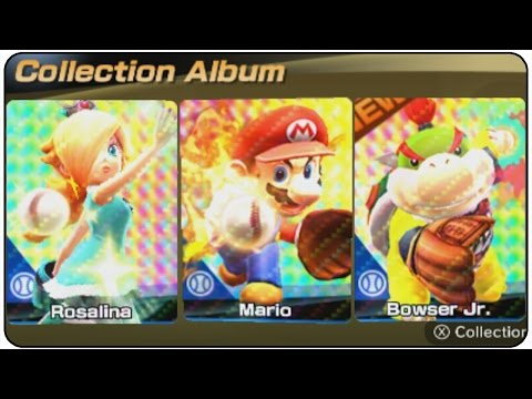 Mario Sports Superstars (3DS) - 100% Complete Album All Cards
