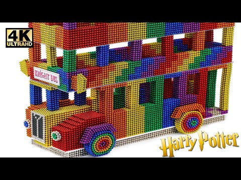 Most Creative - Make Harry Potter Knight Bus From Magnetic Balls (Satisfying)   Magnet World Series