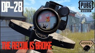DP-28 Tips & Tricks - Best Recoil in PUBG MOBILE? TheBushka