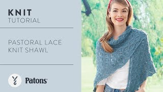 Knit The Pastoral Lace Shawl