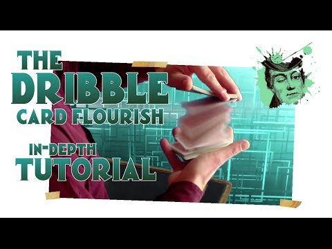 THE DRIBBLE magical card flourish / magic trick tutorial