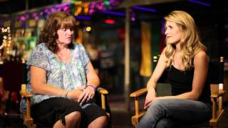 Sally Pressman from Army Wives interviews Paulette Nelson, USO Volunteer - Part 1
