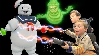 Ghostbusters Battle with Bunch O Balloons!