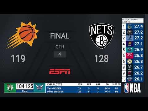 Suns @ Nets | NBA on ESPN Live Scoreboard