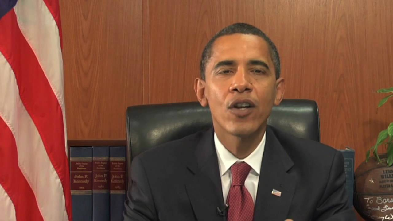 Obama's First Weekly YouTube Address