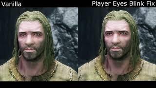 Player Eyes Blink Fix - Vanilla Comparison