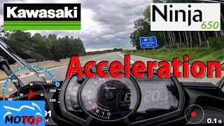 Kawasaki Ninja 650   ACCELERATION   GPS