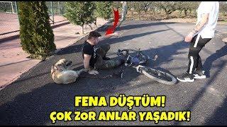 Paten Ve Bisikletle Köpek Gezdirmeye Çalışınca - ÇOK ZOR ANLAR YAŞADIK!!!