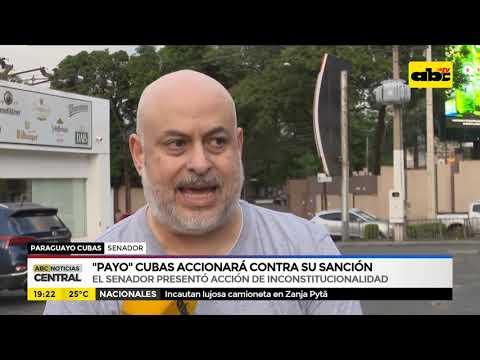 Payo Cubas accionó contra su sanción