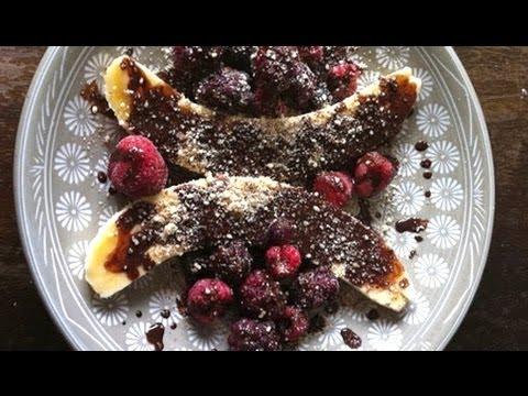 Chocolate Banana Split: Paleo Breakfast (or desert) Recipe #5