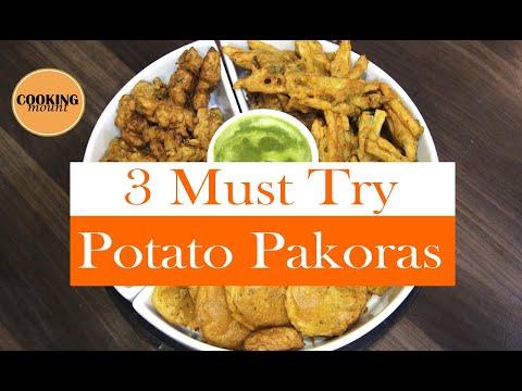 3 MUST TRY POTATO PAKORA RECIPEs