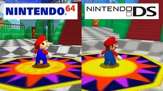 Super Mario 64 | Nintendo 64 VS Nintendo DS | HD GRAPHICS COMPARISON