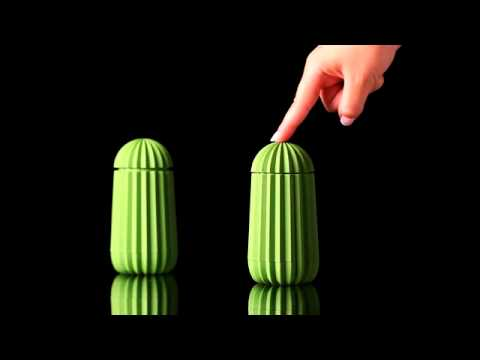 Youtube video of the Cactus toothpick holder by Essey