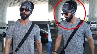 Shahid Kapoor Sports FUNKY Look At Airport
