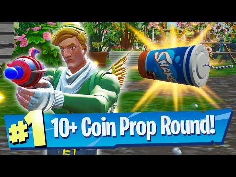 10 Coins In One Round?! - Fortnite Prop Hunt Gameplay
