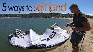 #11 Kiteboarding Beginner – 5 ways to self land