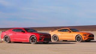 Desert Drag Race! Mustang GT Vs Camaro SS 1LE - Head 2 Head Preview Ep. 98