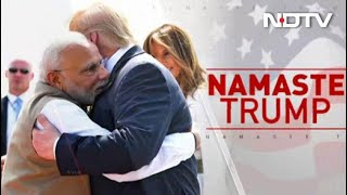 "At Mega ""Namaste Trump"" Event, PM Recalls ""Howdy, Modi"", Welcomes Trumps"
