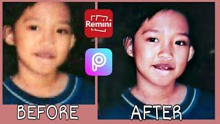 Remini Repair/Fix Blurry Damage Photo and Turn to High-Resolution | Photo Editing Tutorial | PicsArt