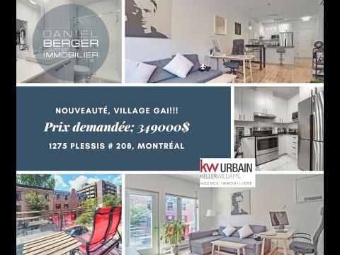 Bienvenue dans notre visite virtuelle du 1275 Plessis # 208, Montréal