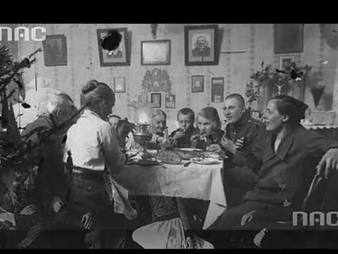 Polish Christmas Eve 1930: Wiktor Brégy sings Gdy Się Chrystus Rodzi (When Christ Is Born)
