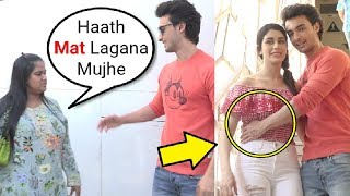 Arpita Khan ANGRY On Aayush Sharma For Touching Warina Hussain At Loveratri Promotion