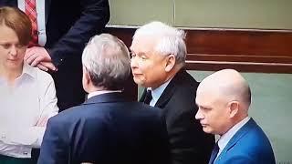 Prezes Jarosław Kaczyński do posłów KO : Hołota chamska.