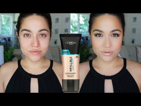 LOREAL Infallible Pro Glow Foundation Demo & Review