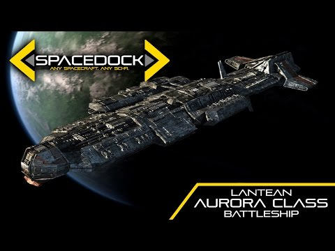 Loď třídy Aurora z Hvězdné brány - Spacedock