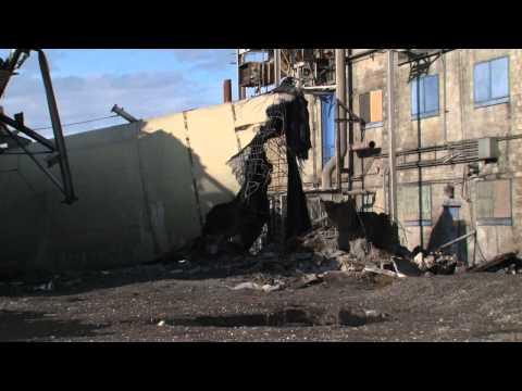 Nuke Plant's Coal Smokestacks Demolished