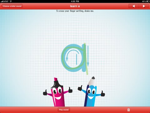 Screenshot of video: ABC Pocket Phonics App