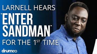 """Larnell Lewis Hears """"Enter Sandman"""" For The First Time"""