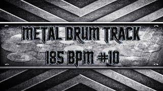 Thrash Metal Drum Track 185 BPM (HQ,HD)