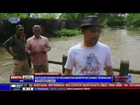 Banjir 1,5 Meter Rendam Kota Pekanbaru
