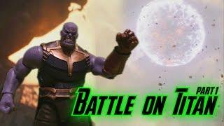 Battle On Titan Part 1 Stop Motion   Avengers Infinity War