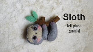 Hanging Sloth | Felt Plush