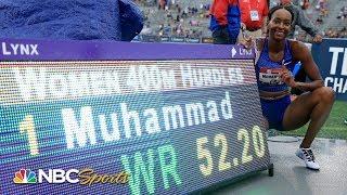 Dalilah Muhammad breaks world record in 400 hurdles at US Nationals | NBC Sports