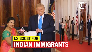 Trump welcomes Indian as new US citizen at White House ceremony