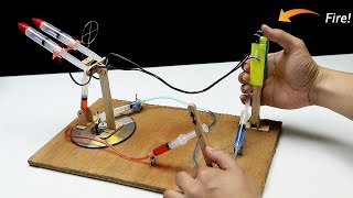 How to make High Powered M Launcher from Syringe - Hydraulic toy