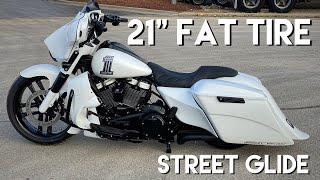 "21"" Harley Street Glide Fat Tire Custom Bagger"