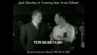Jack Sharkey In Training w/rare footage of Ernie Schaaf, Boston May 6, 1931